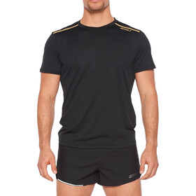 2XU GHST SS Shirt Men, black/gold reflective